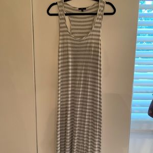 Gray/White Striped GAP Maxi Dress